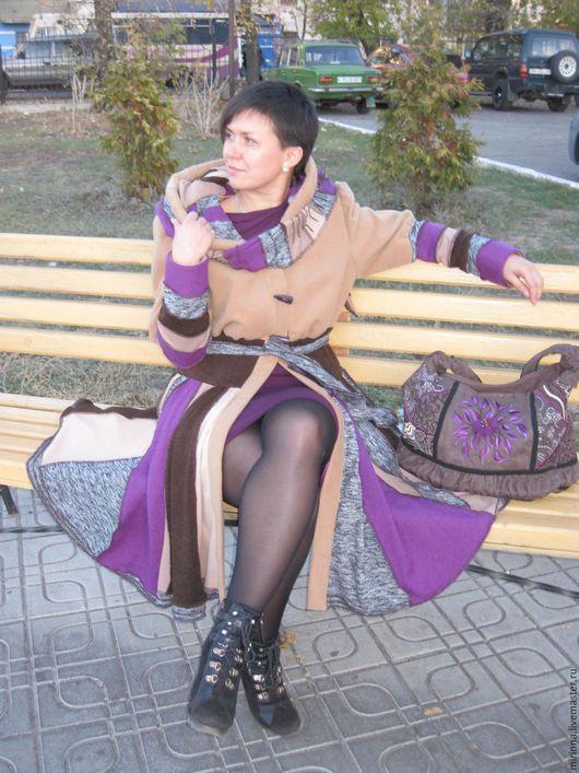 """Верхняя одежда ручной работы. Ярмарка Мастеров - ручная работа. Купить Лоскутное пальто""""Воспоминание""""осеннее модное. Handmade. Разноцветный, демисезоннное пальто"""