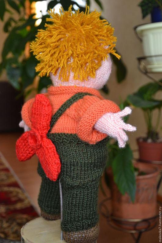 Сказочные персонажи ручной работы. Ярмарка Мастеров - ручная работа. Купить Карлсон, кукла полностью связана спицами нитки полушерсть,наполнитель. Handmade.