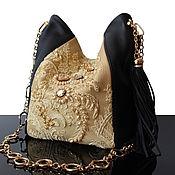 Classic Bag handmade. Livemaster - original item Exclusive theatrical black Evening handbag with embroidery. Handmade.