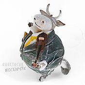 Сувениры и подарки handmade. Livemaster - original item Toy for the Christmas tree Bull, interior, souvenir bull (Christmas toys). Handmade.