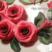 Посуда ручной работы. Ярмарка Мастеров - ручная работа Тарелка с цветными розами. Handmade.