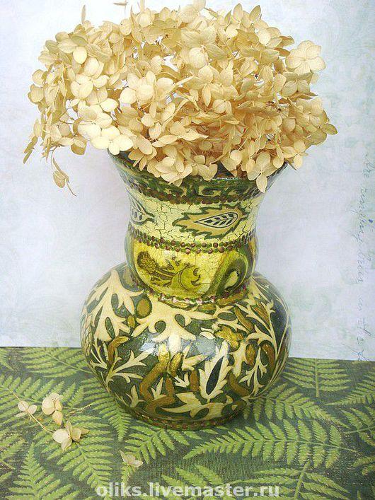Vases handmade. Livemaster - handmade. Buy Glass vase patterned.Vase, glass