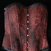 Одежда ручной работы. Ярмарка Мастеров - ручная работа Бордовый корсет.. Handmade.