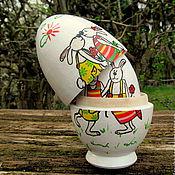 Подарки к праздникам ручной работы. Ярмарка Мастеров - ручная работа Пасхальные зайчики (продано). Handmade.