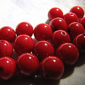 Материалы для творчества handmade. Livemaster - original item Bead natural coral 6 mm ball, smooth. Handmade.