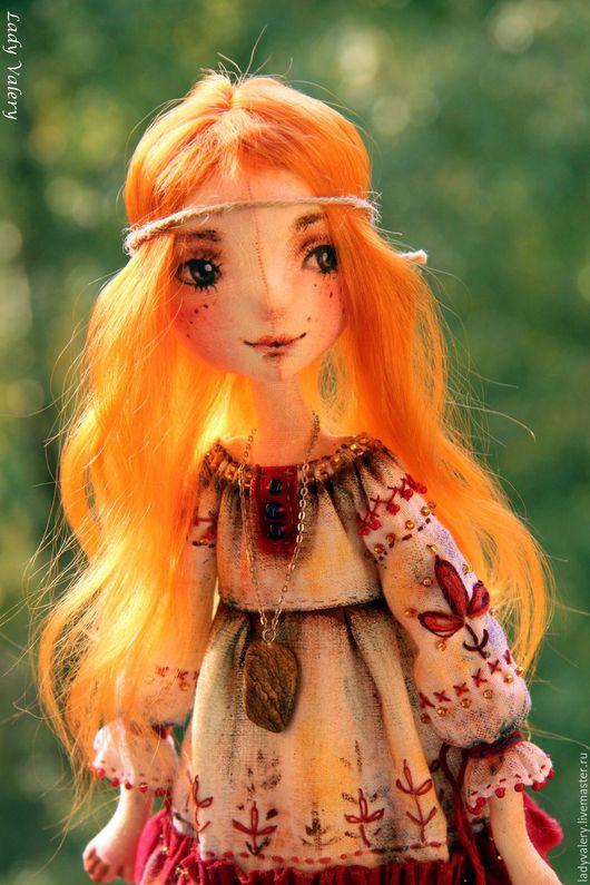 Коллекционные куклы ручной работы. Ярмарка Мастеров - ручная работа. Купить Аленка. Handmade. Рыжий, рыжая девочка, масляная пастель