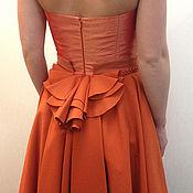 Одежда ручной работы. Ярмарка Мастеров - ручная работа Терракотовое корсажное платье. Handmade.