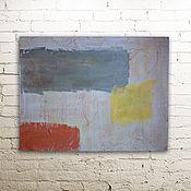 Картины и панно ручной работы. Ярмарка Мастеров - ручная работа абстракция на сером. Handmade.