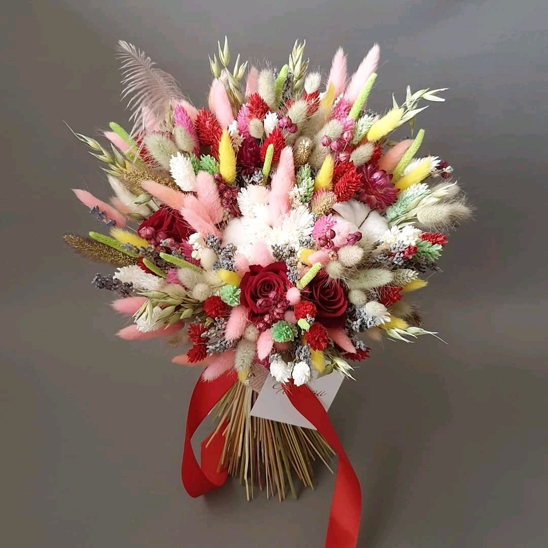 Букеты из сухоцветов, Букеты, Москва,  Фото №1