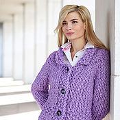 Одежда handmade. Livemaster - original item knitted sweater color lilac. Handmade.