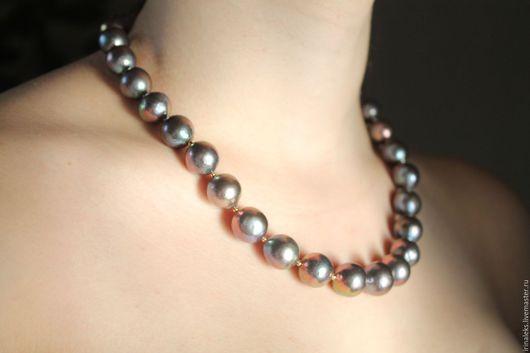 """Колье, бусы ручной работы. Ярмарка Мастеров - ручная работа. Купить Ожерелье """" Фиалка"""" 2. Handmade. Комбинированный, повседневные"""