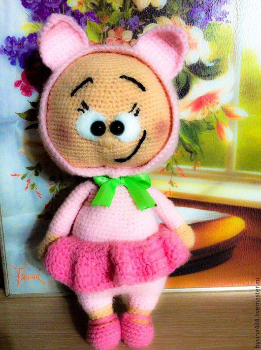 Игрушки животные, ручной работы. Ярмарка Мастеров - ручная работа. Купить Бони в костюме свинки. Handmade. Амигуруми, свинка, Пупсик