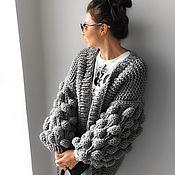 Одежда handmade. Livemaster - original item Cardigan thick yarn knitted. Handmade.