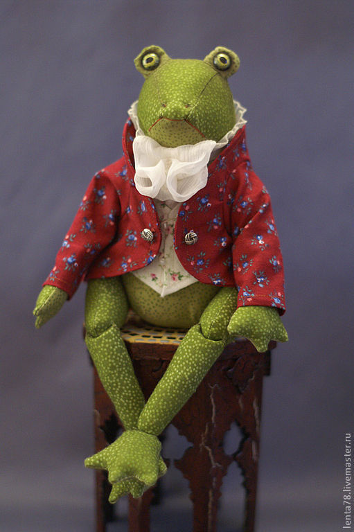 """Коллекционные куклы ручной работы. Ярмарка Мастеров - ручная работа. Купить Текстильная кукла """"мистер Джереми Фишер"""". Handmade. лягушки"""
