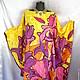 Пляжные платья ручной работы. Ярмарка Мастеров - ручная работа. Купить Платье-туника пляжная яркая. Handmade. Разноцветный, вискоза