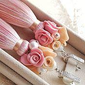 Украшения handmade. Livemaster - original item Strawberry marshmallow brush earrings