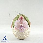 Подарки к праздникам handmade. Livemaster - original item Easter egg, porcelain egg, Easter decor, flowers, Easter. Handmade.