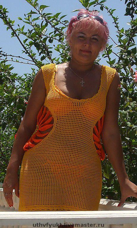"""Платья ручной работы. Ярмарка Мастеров - ручная работа. Купить Платье """"желтый цветок"""". Handmade. Летнее платье, желтый, бусины"""