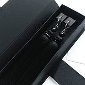 Серьги-кисти ручной работы. Ярмарка Мастеров - ручная работа Черные серьги кисти с бисером. Handmade.