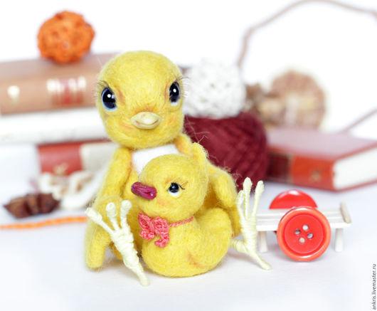 Игрушки животные, ручной работы. Ярмарка Мастеров - ручная работа. Купить цыпленок Вилли и утенок Тилли валяная игрушка Пасха Новый год. Handmade.