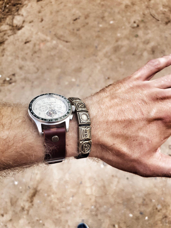 Кожаный браслет - Викинг, Браслет из бусин, Волгоград,  Фото №1