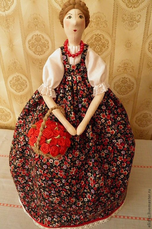 """Кухня ручной работы. Ярмарка Мастеров - ручная работа. Купить Интерьерная кукла в стиле Тильда """"Баба на чайник"""". Handmade."""