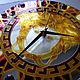 Часы для дома ручной работы. Ярмарка Мастеров - ручная работа. Купить Часы настенные круглые зеркальные Версаче(Греция) бордовый с золотом. Handmade.