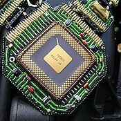 """Украшения ручной работы. Ярмарка Мастеров - ручная работа Колье """"IT-Girl"""", стиль киберпанк. Handmade."""