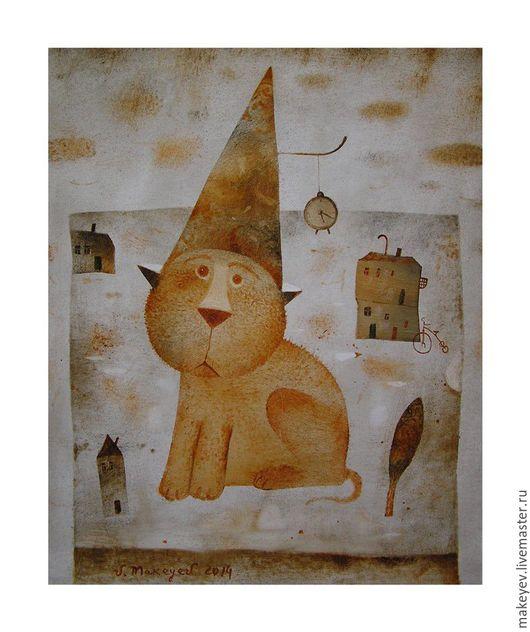 Животные ручной работы. Ярмарка Мастеров - ручная работа. Купить Натюрморт с рыжим котом.. Handmade. Рыжий, натюрморт, подарок девушке