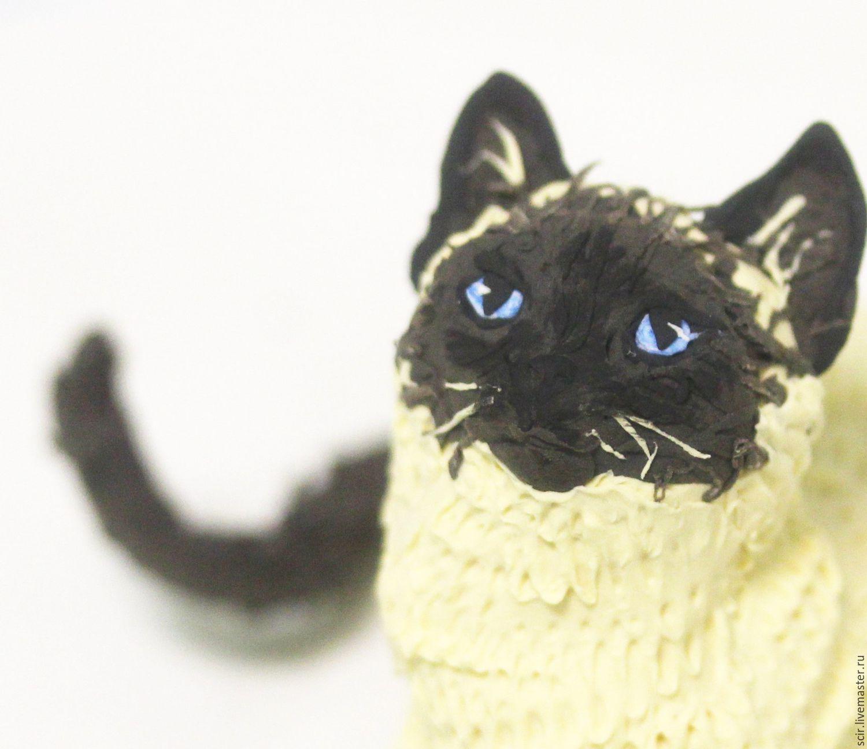 Игрушки животные, ручной работы. Ярмарка Мастеров - ручная работа. Купить Фигурка 'кошечка' (кот,  кошка). Handmade. Котенок, кошечка