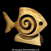 """Для дома и интерьера ручной работы. Ярмарка Мастеров - ручная работа Скульптура """"Рыба - спиралька"""". Handmade."""