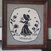 Картины и панно ручной работы. Ярмарка Мастеров - ручная работа Девочка с цветком. Handmade.