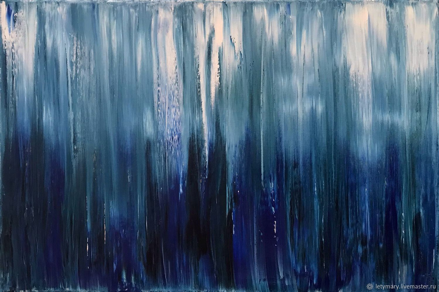 Abstract oil painting in blue shades 'You decide', Pictures, Novosibirsk,  Фото №1