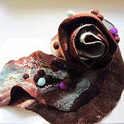 Аксессуары ручной работы. Ярмарка Мастеров - ручная работа Валяный шарф Мятное мороженное. Handmade.