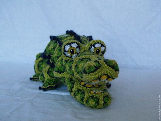Игрушки животные, ручной работы. Ярмарка Мастеров - ручная работа. Купить Кро-ко-Дюша. Handmade. Африканские мотивы, зеленый
