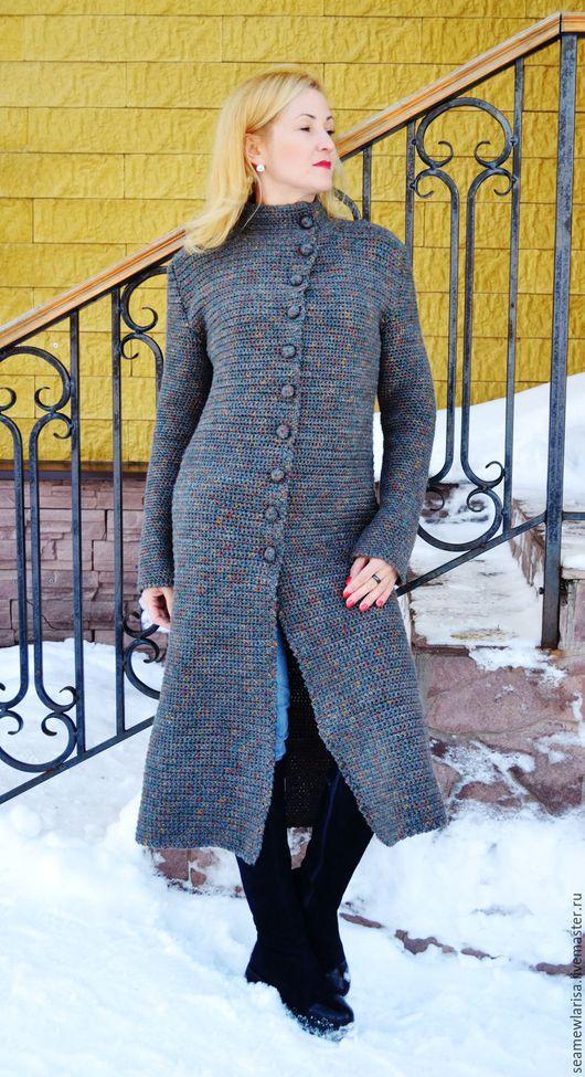 Верхняя одежда ручной работы. Ярмарка Мастеров - ручная работа. Купить Пальто ручная работа. Handmade. Комбинированный, верхняя одежда