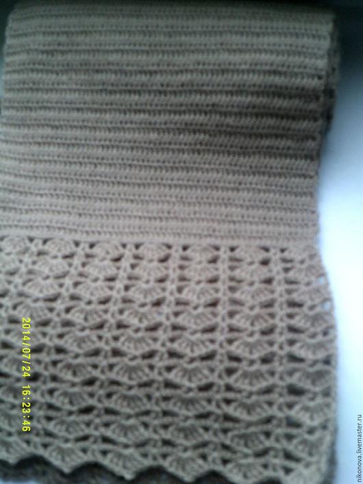 Шарфы и шарфики ручной работы. Ярмарка Мастеров - ручная работа. Купить Бежевый шарфик. Handmade. Бежевый, шарфик, ручная вязка