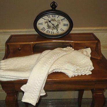 Clothing handmade. Livemaster - original item Set WHITE turtleneck tank top with long mittens Merino. Handmade.