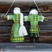 """Куклы и игрушки ручной работы. Ярмарка Мастеров - ручная работа """"Неразлучники"""" в зеленом. Handmade."""