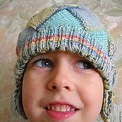 """Работы для детей, ручной работы. Ярмарка Мастеров - ручная работа Детская шапочка с """"ушками"""" из секционной пряжи Импрессио. Handmade."""
