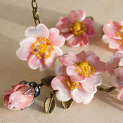 Украшения handmade. Livemaster - original item Wild rose necklace and earrings. Handmade.