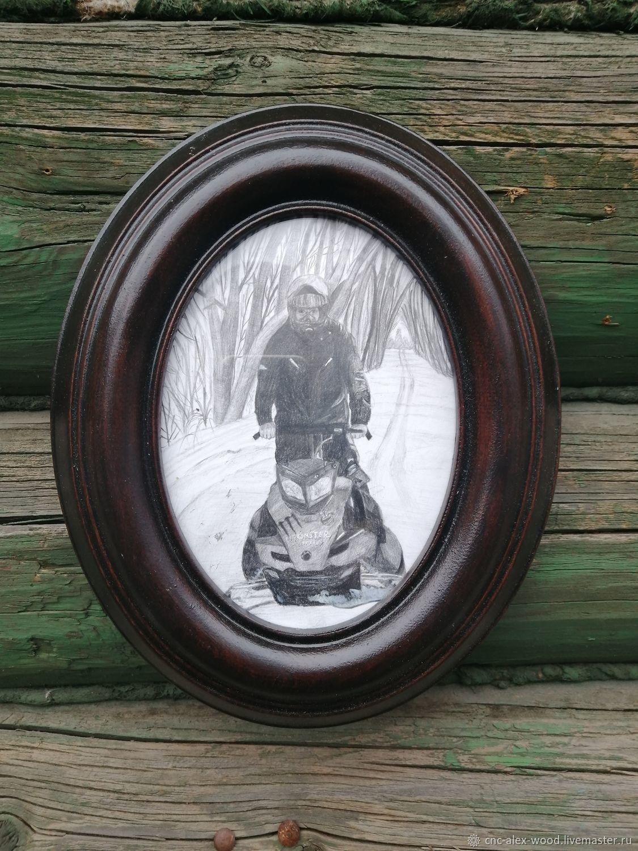Овальная рамка для фото, вышивки, картины, Фоторамки, Александров,  Фото №1