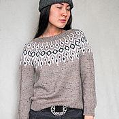 "Одежда handmade. Livemaster - original item Tweed jumper, sweater ""DROPS ROSA"" from the Italian merino. Handmade."