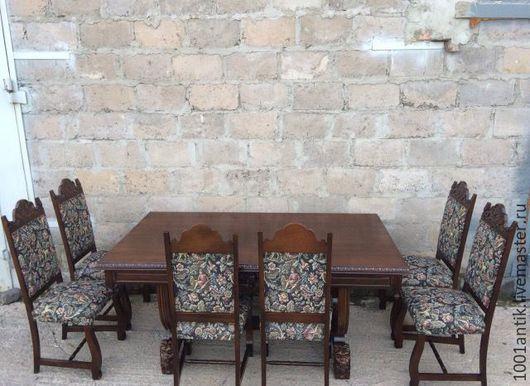 Мебель ручной работы. Ярмарка Мастеров - ручная работа. Купить Стол и 6 стульев. Handmade. Комбинированный, винтаж