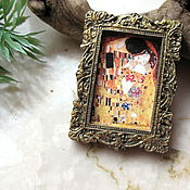 Украшения handmade. Livemaster - original item Gustav Klimt The Kiss brooch, Klimt 2in1, Klimt brooch. Handmade.