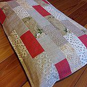 Лоскутная подушка для банкетки