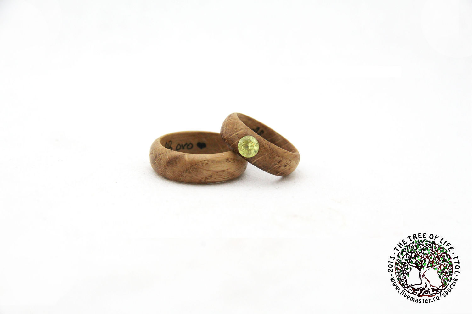 Copy of Copy of Copy of Wooden ring with emerald, Rings, St. Petersburg,  Фото №1