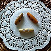 Пуговицы ручной работы. Ярмарка Мастеров - ручная работа Пуговицы деревянные 4 см. Handmade.