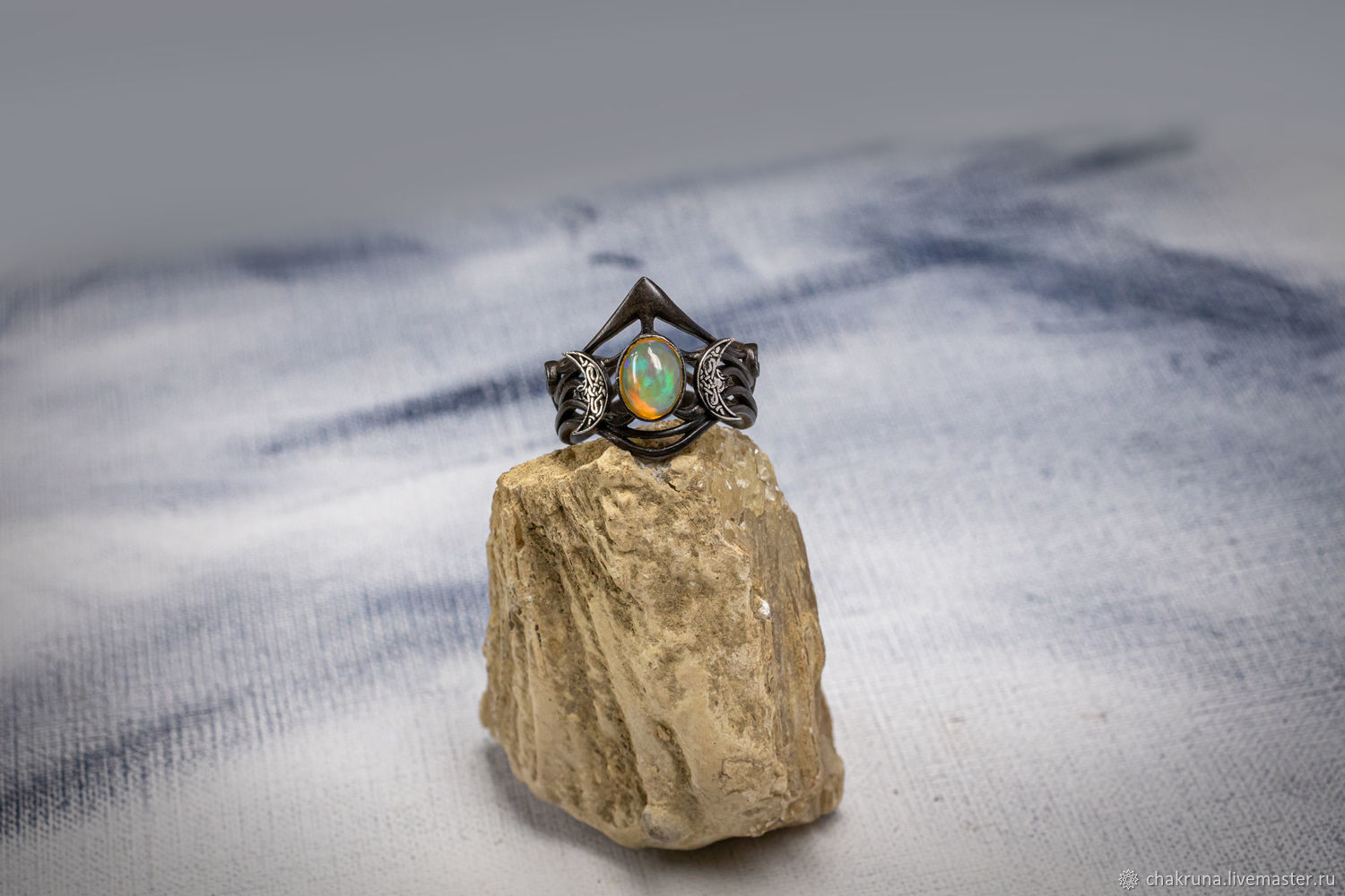 Silver ring with opal ' Tiara', Rings, Moscow,  Фото №1
