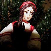 """Куклы и игрушки ручной работы. Ярмарка Мастеров - ручная работа """"Аленький цветочек"""" - елочная игрушка из ваты. Handmade."""
